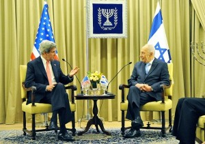 John Kerry's meeting with Israeli President, Shimon Peres