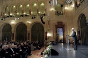 Balog Zoltán, az emberi erőforrások minisztere a Pesti Vigadóban