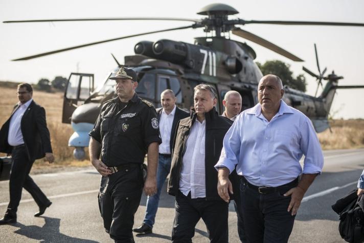 Orbán Viktor miniszterelnök szerdán, miután Bojko Boriszov bolgár kormányfővel határszemlét tartottak
