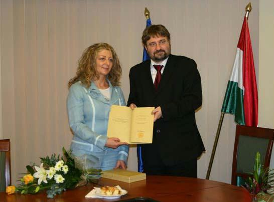 Anno 2005. Pro Cultura Hungarica díjat kapott Tova Pinto