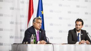 Orbán Viktor kormányfő pénteken a tanácskozást követő sajtóértekezletén