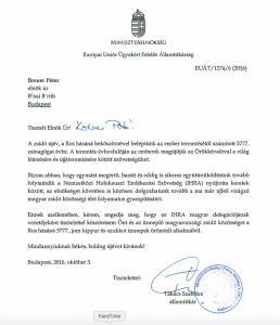 Takács Szabolcs államtitkár úr és a zsidó ünnepek