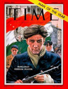 Az est befejezéseként Bogyai Katalin minden résztvevőnek egy kis ajándékkal kedveskedett. Másolatban mindenki megkapta a TIME Magazin 1957 január 7-i számának címlapját, ahol egy magyar szabadságharcos portréja látható. S a címlap felirata szerint a MAGYAR SZABADSÁGHARCOS AZ ÉV EMBERE.